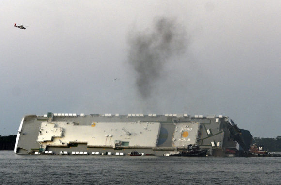 Investigators Trying To Determine Cause Of Overturned Cargo Ship In Georgia Port